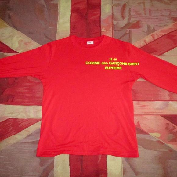 31133daf8071 Supreme Shirts | X Comme Des Garcons Collab Long Sleeve | Poshmark
